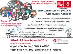 Valencia, 25 octubre 2014: Panel Formación 2015 - Curso Community Manager | www.escolaernestlluch.es
