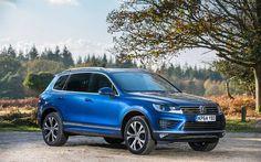 Volkswagen Touareg, 2016 cars, SUVs, Volkswagen, blue Touareg