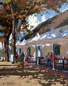 Roelof Rossouw Landscape Art, Landscape Paintings, Landscapes, Academic Art, South African Artists, Africa Art, Naive Art, Beach Art, New Artists
