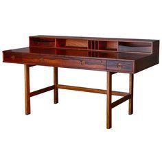 Peter Løvig Nielsen; Rosewood 'Flip Top' Desk for Løvig, 1950s.