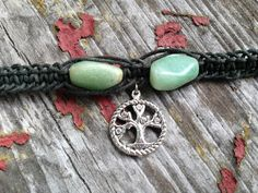 Tree Of Life Green Aventurine Vintage Beads Organic by TheSunLab, $18.00