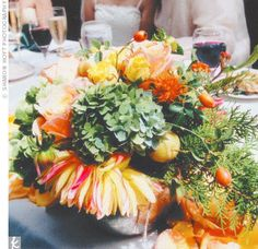 """The florist, a friend of a friend, exceeded Joiye's expectations. """"There were flowers everywhere,"""" says Joiye. """"It was like a dream."""""""