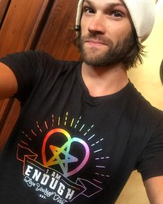 Jared Padalecki New campaign in support of #orlando represent.com/Jared (link to buy in bio) #AKF @represent