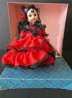 "Vintage Madame Alexander 8"" Spain International Tags New In Box #595"