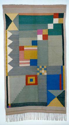 Benita Otte - Women of the Bauhaus - Bauhaus was a German art school famous for their new approach to design and fine arts. The women of Bauhaus made their own textiles. Bauhaus Textiles, Motifs Textiles, Textile Patterns, Floral Patterns, Josef Albers, Fabric Design, Pattern Design, Bauhaus Design, Bauhaus Colors