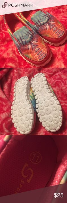 NWOT Size 11 SPORT Tye Dye Girls Shoes Slip On NWOT Size 11 SPORT Tye Dye Girls Tennis Shoes Slip On Sneakers BRAND NEW NEVER WORN PINK BLUE RED PURPLE YELLOW Sport Shoes Sneakers