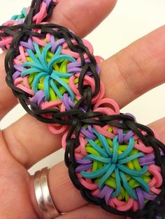 Rainbow Loom Patterns: Kaleidoscope Rainbow Loom Pattern (youtube tutorial)