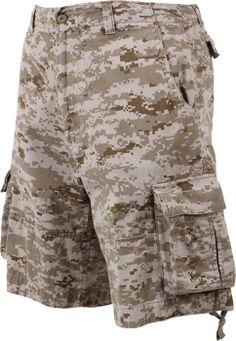 Desert Digital Camouflage Vintage Military Infantry Utility Shorts | 2760 | $39.99