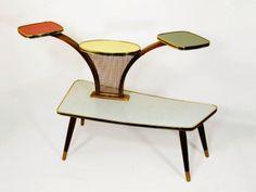 Original 50s Vintage Display German Multicolor Table Plant Stand Mid Century | eBay