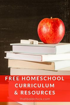 Homeschool curriculum doesn't have to cost an arm and a leg.  Check out this list of free curriculum and resources at thatbaldchick.com