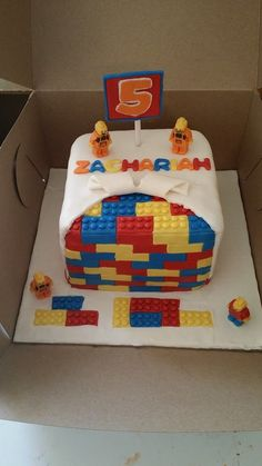 Lego brick fondant cake Cake Cover, Lego Brick, Fondant, Bakery, Birthday Cake, Fruit, Gaming, Inspiration, Inspired