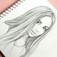 Pencil Portrait art, girl, and drawing image - Art Drawing Images, Cool Art Drawings, Pencil Art Drawings, Beautiful Drawings, Drawing Ideas, Drawings Of Girls Faces, Horse Drawings, Realistic Drawings, Beautiful Pictures