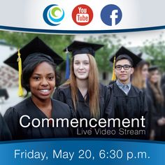 We are excited to share that we are offering live streaming video of our Inaugural Commencement on our YouTube account at https://www.youtube.com/watch?v=zXSY-w0UCKU and also on Facebook this Friday. Please share this information with friends and family unable to attend. #Commencement #Graduation2016
