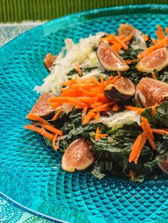Fresh Fig, Carrot, Fennel and Kale Salad Recipe