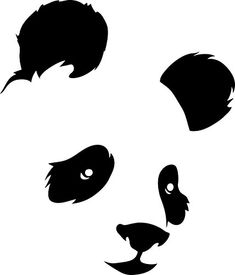 Shop for panda on Etsy, the place to express your creativity through the buying and selling of handmade and vintage goods. Animal Stencil, Stencil Art, Stencils, Silhouette Portrait, Silhouette Art, Bear Face, Cute Panda, Pyrography, Panda Bear