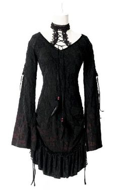 Punk Gothic Palace Shoulder with Sheep Curl and Blackless Top Shirt Blouse S-XXL