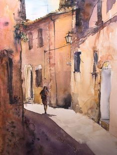 Paintings For Sale, Watercolor Paper, Lovers Art, Tuscany, Buy Art, Italy, Horses, Landscape, Architecture