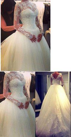 Wedding Dresses: New Lace Ivory/White Wedding Bridal Gown Dress Custom Size 4-6-8-10-12-14-16-18+ -> BUY IT NOW ONLY: $129 on eBay!