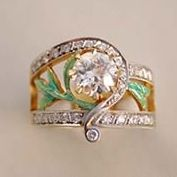 Diamond & Enamel Ring from the House of Masriera