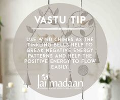 Vastu tip: use wind chimes as the tinkling bells help break negative energy patterns and help the positive energy Feng Shui And Vastu, Feng Shui Tips, Interior Design Living Room, Living Room Designs, Minimal House Design, Feng Shui Energy, Spiritual Decor, Feng Shui House, Vastu Shastra