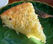 Gluten and Dairy Free Coconut Custard Pie