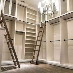 The Library Ladder Company Master Closet Design, Walk In Closet Design, Master Bedroom Closet, Closet Designs, Online Closet Design, Bedroom Closets, Closet Renovation, Closet Remodel, Rolling Ladder