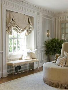 gorgeous window treatments #windowseat
