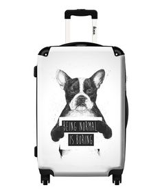 Loving this 'Being Normal is Boring' Rolling Suitcase on #zulily! #zulilyfinds
