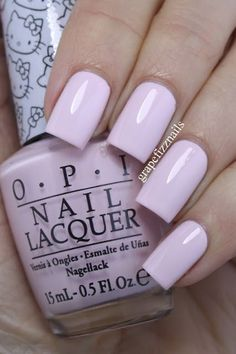OPI LET'S BE FRIENDS, a pale pink nail polish. This 'almost white' pink has a great formula, very pigmented & easy to work with. #pinknails