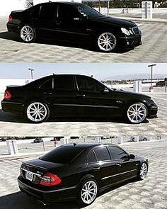 The Official Wheel Thread: Post Pics-vossenxwork. Mercedes Benz Sedan, Mercedes W211, Mercedes E Class, Mercedes E Series, My Dream Car, Dream Cars, Mafia, Black Wheels, Black Cars