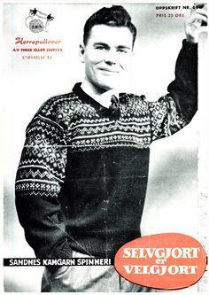 Herregenser K 650 Norwegian Knitting, Color Combinations, Knitting Patterns, Men Sweater, Jumpers, Boys, Sweaters, Jackets, Fashion