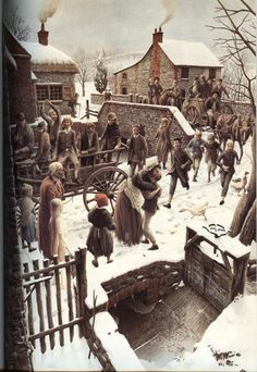 """Charles Dickens """"Christmas Carol"""" – Illustrated by Roberto Innocenti: chetvergvecher — ЖЖ Dickens Christmas Carol, Christmas Tale, Christmas Scenes, Victorian Christmas, Christmas Books, Vintage Christmas Images, Christmas Pictures, Photo D Art, Christmas Illustration"""