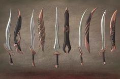 Elven swords, PET SEM on ArtStation at https://www.artstation.com/artwork/oKGd4
