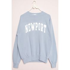 Erica NEWPORT Sweatshirt ($32) ❤ liked on Polyvore featuring tops, hoodies, sweatshirts, fleece lined sweatshirt, graphic sweatshirts, blue top, relaxed fit tops and graphic tops