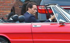 Driving wild: Rufus Sewell spent Saturday driving around Los Angeles in a vintage car Rufus Sewell, Alfa Cars, Alfa Romeo Spider, Cinema, Vintage Cars, Zen, Classic Cars, Character, Boats