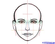 how to draw a human face step 6