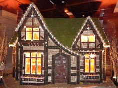 """A gingerbread house...the holy grail of Christmas.  Stares at you from the page,  seductively summons you.  """"You can do this.""""  This being a replica of Cinderella's castle dressed for Christmas.  Don't go there!"""