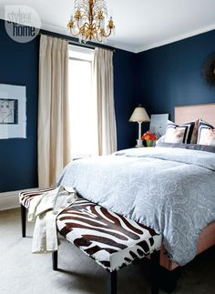 14 stylish master bedrooms will get you thinking in all different shades of blue.