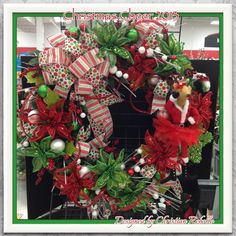 """""""Christmas Cheer"""" 36in Wreath 2013 Collection designed by Christian Rebollo for store 2870"""