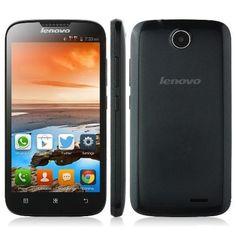 Original #Lenovo #A560 #Black MSM8212 Quad Core 1.2GHz Android 4.3 Smartphone 512MB Ram 4GB Rom Dual Sim 5.0 Inch IPS Screen 3G