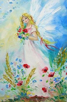 Ange de Viola Sado Fairy Pictures, Angel Pictures, Fantasy Kunst, Fantasy Art, Love Painting, Painting & Drawing, Art Mignon, Unicorn And Fairies, Angel Artwork