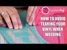 (324) How to Avoid Tearing your Vinyl in the Weeding Process - YouTube