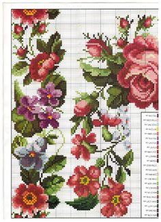 Cross Stitch Borders, Cross Stitch Rose, Cross Stitch Flowers, Cross Stitch Charts, Cross Stitching, Cross Stitch Embroidery, Embroidery Patterns, Hand Embroidery, Cross Stitch Patterns