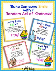 Random Acts of Kindness - Sunny Days in Second Grade
