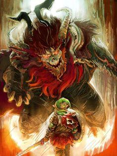 Gannon vs. Link- Final Battle by David Hsu Yen