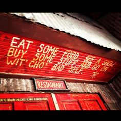 Eat some food, see a show, buy some stuff, and go on wit' cho' bad self! =) #wisdom