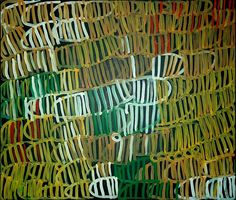 Minnie Pwerle  2004  Synthetic polymer paint on Belgian linen  124 x 105 cm  $12,000 AUD