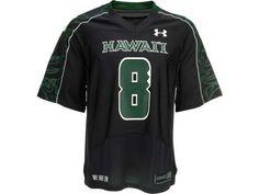 bbc223b85 Hawaii Warriors  8 Under Armour NCAA UA Replica Football Jersey Football  Jerseys