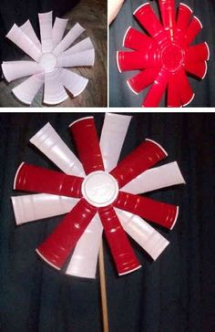 Red Solo Cup Pin Wheel  Click On Picture for Complete Instructions
