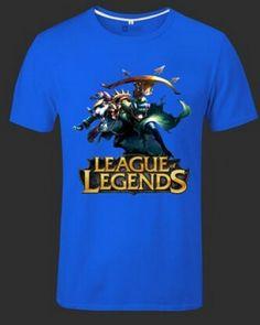 League of Legends plus size tshirt for men short sleeve Twitch-